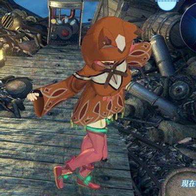 足をトントンするホムラの画像