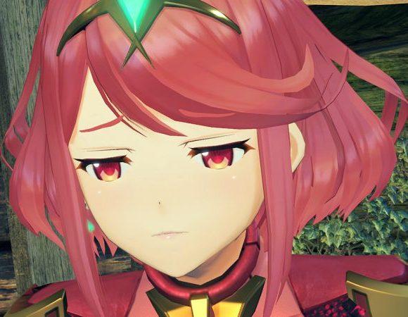 ホムラの目を細めた表情の画像