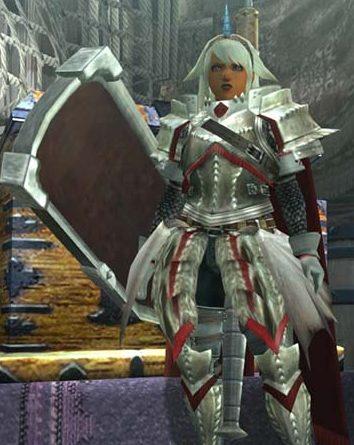 ウカムルX装備でつくった女聖騎士装備