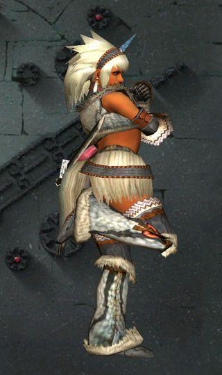 キリン装備のかわいいポーズ