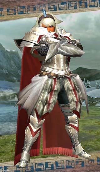 女聖騎士風装備の腕組み画像