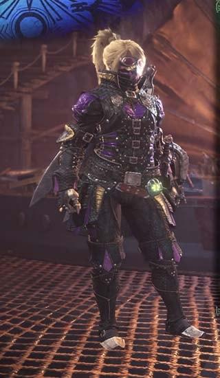 カラーを紫色に変更したギルオスα装備