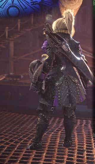 カラーを紫色に変更したギルオスα装備2