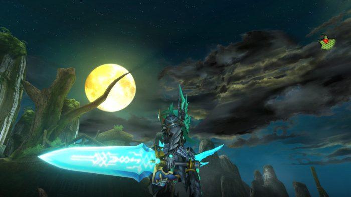 剣を装備した覚醒ホムラ風装備