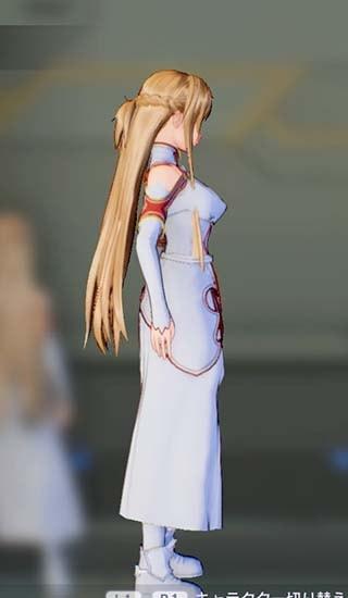 SAOFB血盟騎士団衣装のアスナ正面3