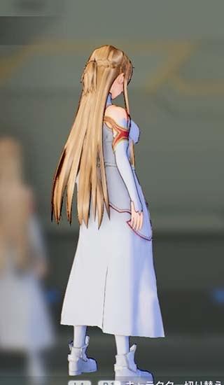 SAOFB血盟騎士団衣装のアスナ正面4