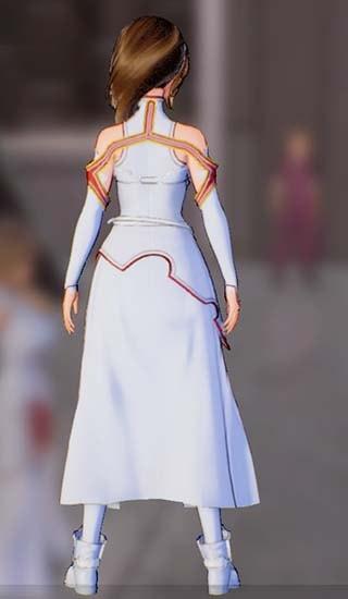 主人公に血盟騎士団衣装を着せた画像後ろ