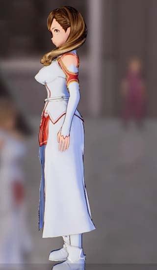 主人公に血盟騎士団衣装を着せた画像左側