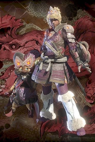 ゾラマグナと鎧武者を組み合わせた見た目装備の画像