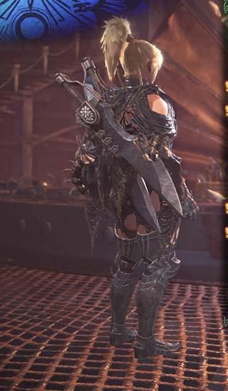 腰装備を外したウルズα装備5