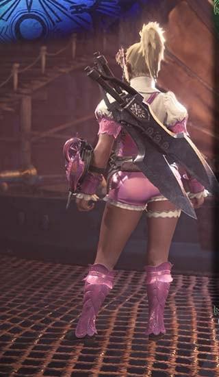 ブロッサム装備の腰装備を外し色をピンクに変更