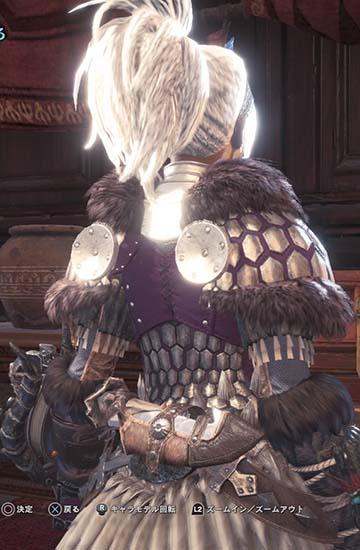 バゼル胴の背中のかわいいデザイン