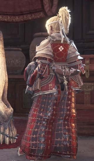 暁ノ武士装備のカラーを赤に変更した画像2