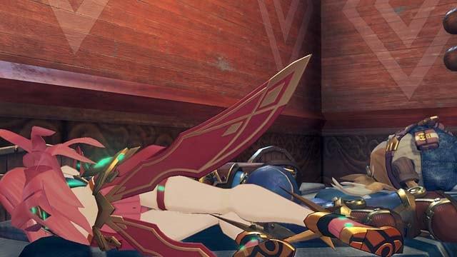 寝ているヒカリ(ホムラ色のヒカリ)