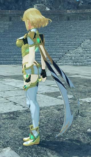 金髪カラーに変更したゼノブレイド2のホムラ