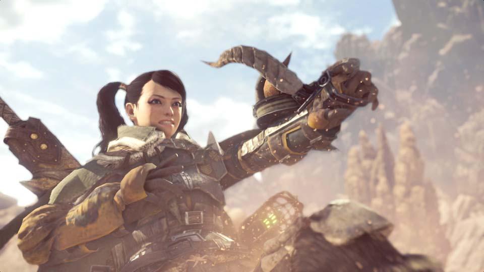 PC版MHW狩りイベントシーンの画像