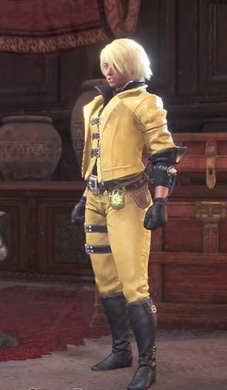 腰装備を外し、カラーを黄色に変更したダンテ装備
