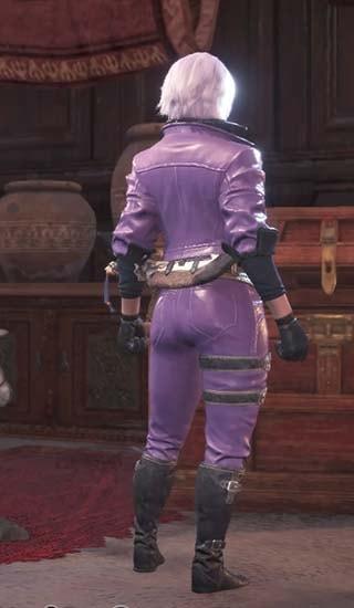 ダンテコートを外し、カラーを紫にしたダンテ装備