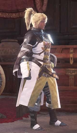 カラーを白に変更したギルドクロス重ね着衣装
