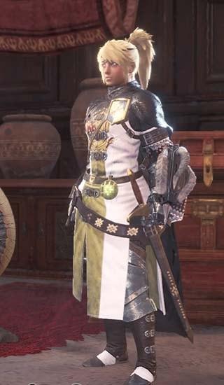 カラーを白に変更したギルドクロス重ね着衣装4