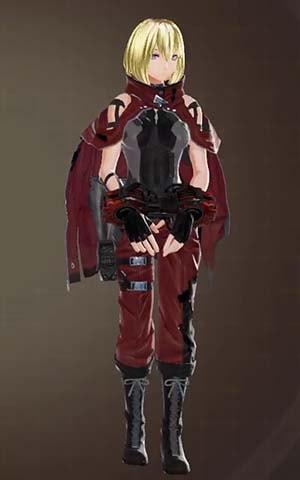 F製支給戦闘服・赤の見た目