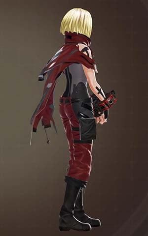 F製支給戦闘服・赤の見た目右側