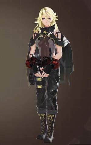 F製支給戦闘服・黒の見た目左前
