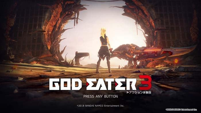 ゴッドイーター3、タイトル画面のプレイヤー