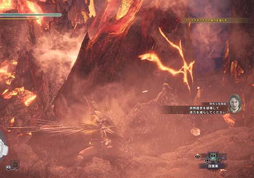 ゾラマグダラオスの排熱器官を攻撃している画像