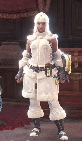カラーを白色に変更したオリオン重ね着装備