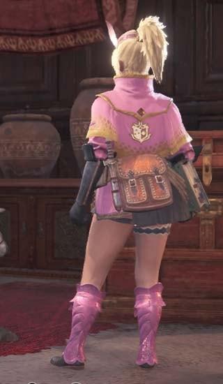 ピンク色に変更した見た目