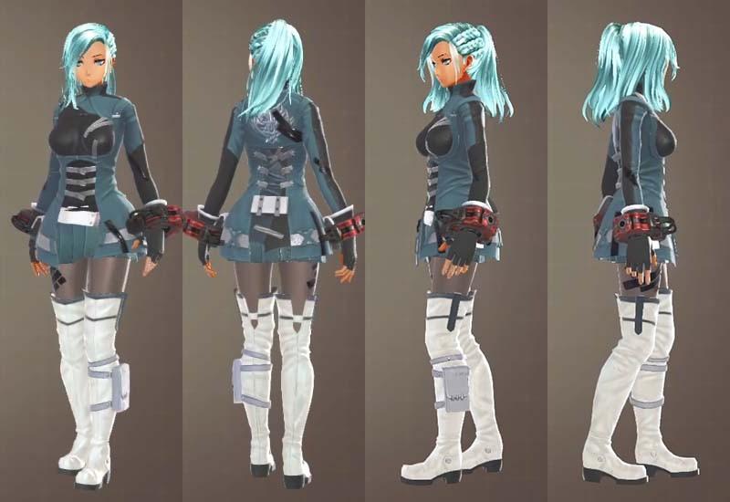 F制式兵装とF制式士官服の組み合わせ【ゴッドイーター3】