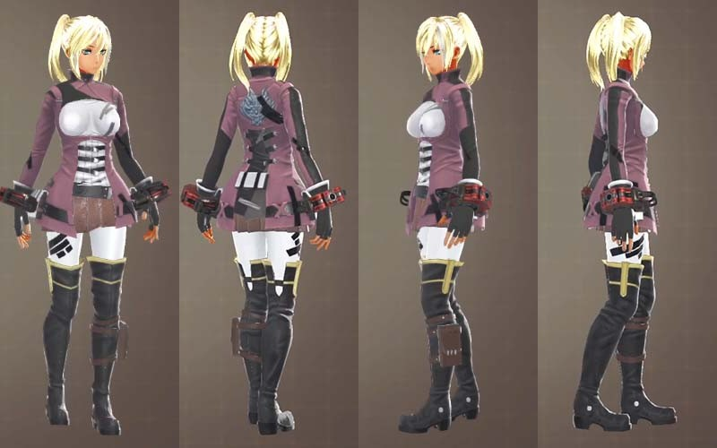 【GE3】F制式士官服・茶と制式兵装・臙の組み合わせ