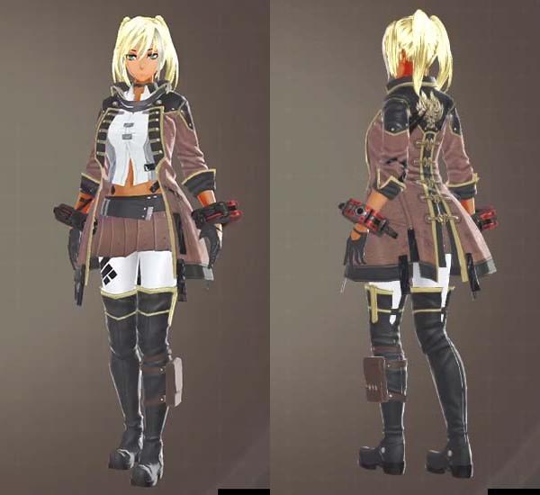 GE3のF制式士官服・茶衣装