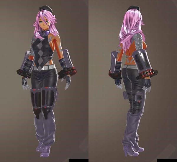 ゴッドイーター3の守風吹滅紫衣装