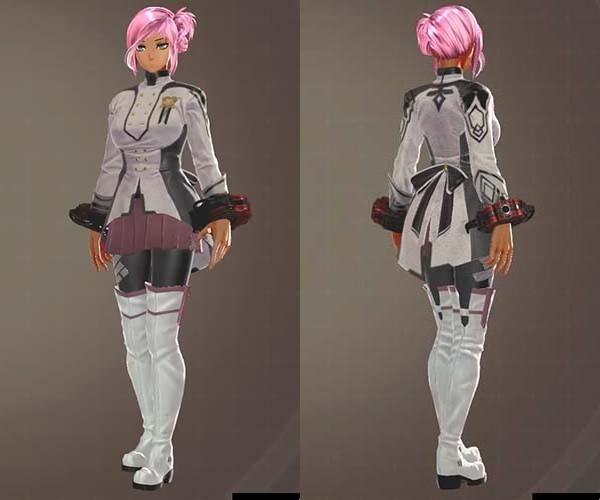 F制式士官服・燕とグレイプニル制式服の衣装組み合わせ