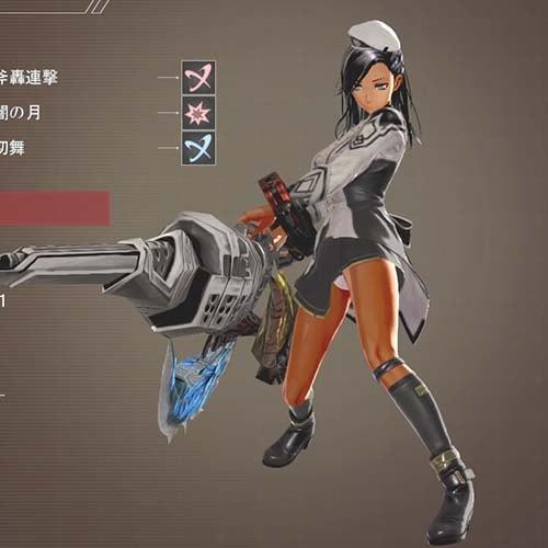 グレイプニル制式服で銃を構える画像