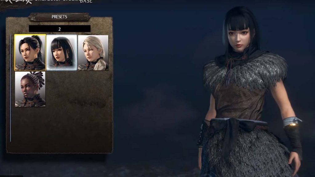 仁王のキャラクリエイト画面